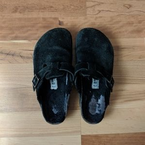 Birkenstock Black Leather Clog 38/7
